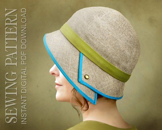 88d24a3d75e2c5 SEWING PATTERN - Penelope, 1920's Twenties Downton Abbey Lady Mary Cloche Hat  for Child or Adult - P