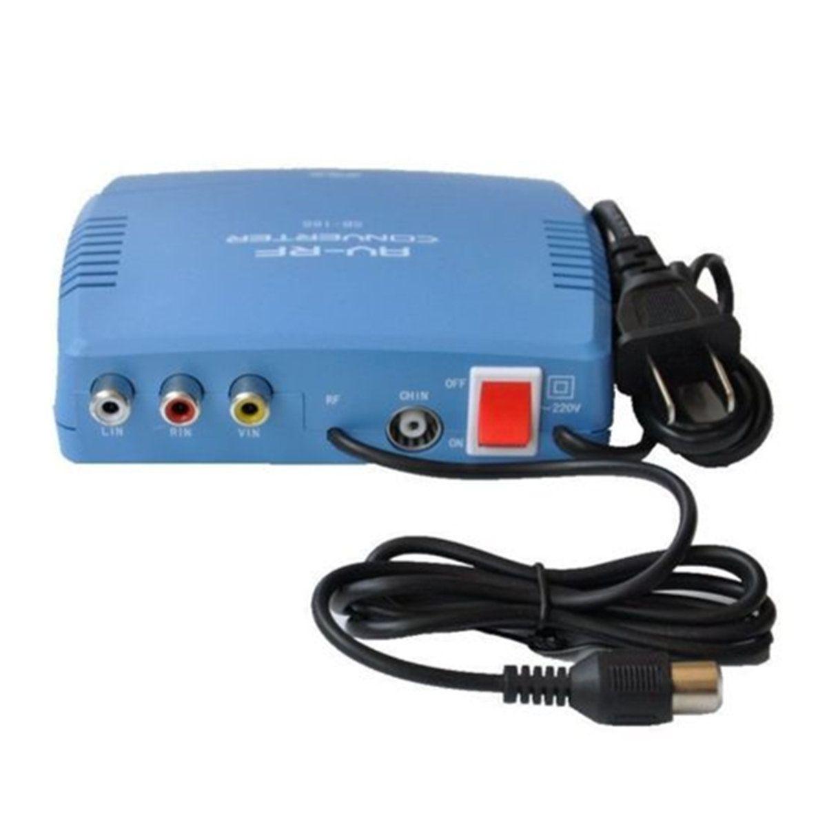 RF Modulator AV-RF AV-TV Converter RCA Ant Input To F Type Coax ...