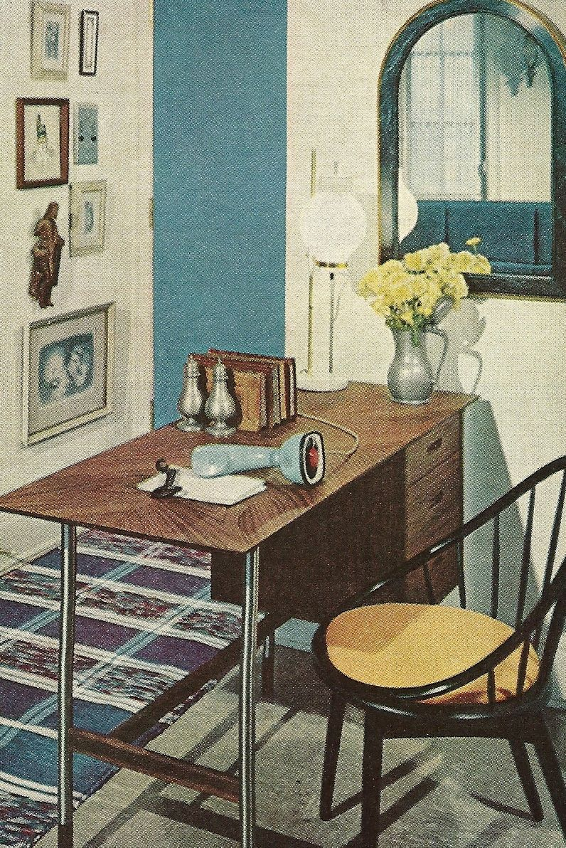 better homes and gardens decorating ideas book from 1960. | googie