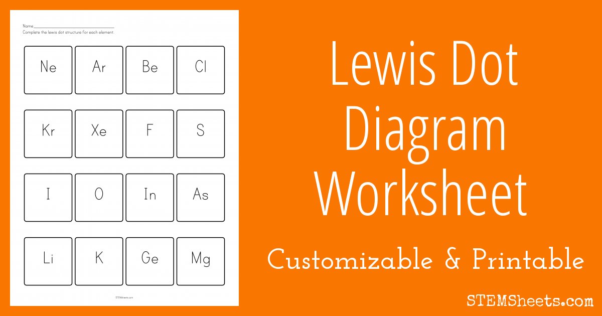 Awesome Website That Can Make And Customize Lewis Dot Diagram Worksheets And Includes An Answer Key Worksheets Worksheet Template Teaching Resources Secondary