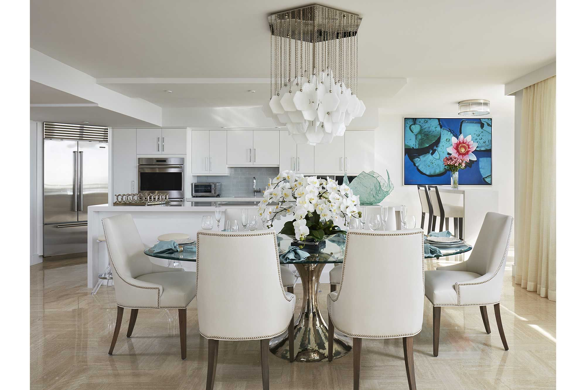 Grand White Kitchen | house ideas | Pinterest | Palm beach, Beach ...