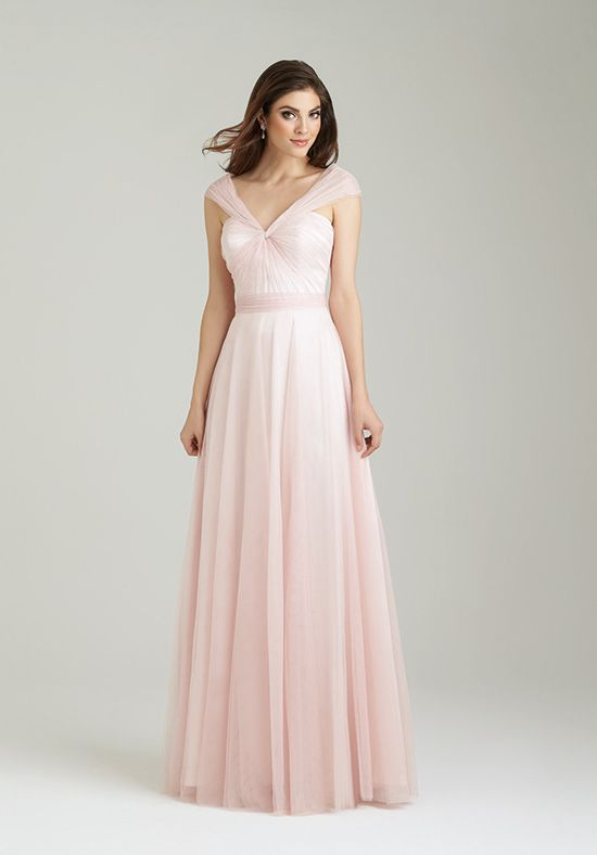Allure Bridesmaids 1450 V Neck Bridesmaid Dress