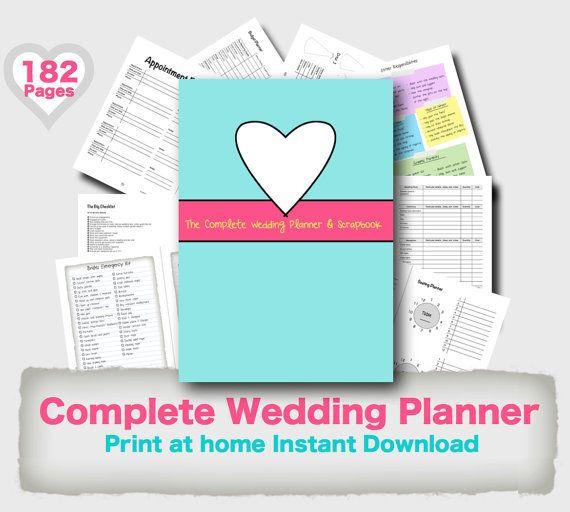 Wedding Planner Binder Printable Evergreen Wedding planner organiser