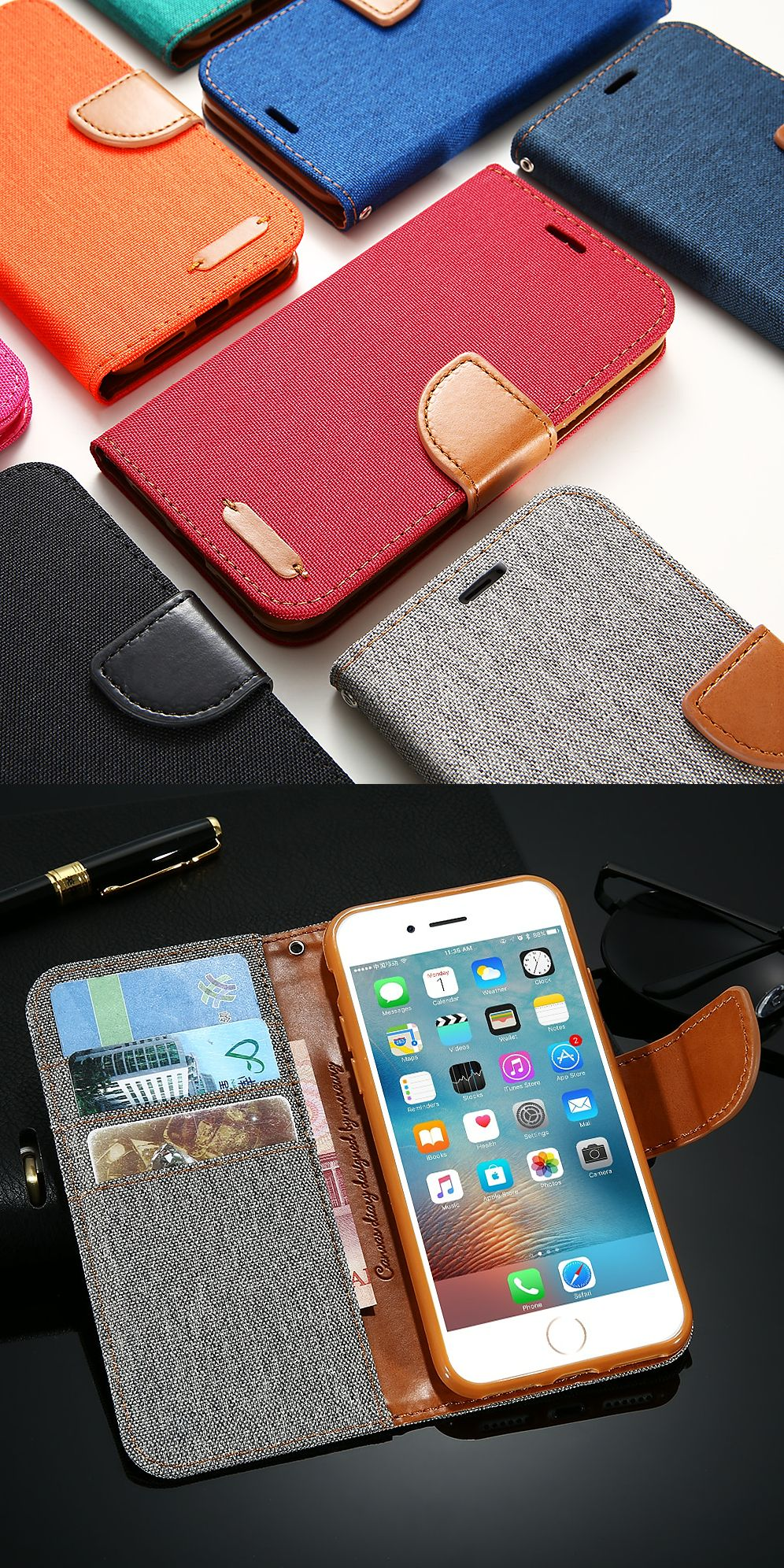 pretty nice b2d57 f5b77 Wallet flip case for iPhone x 8. I hand-pick the best things to buy ...