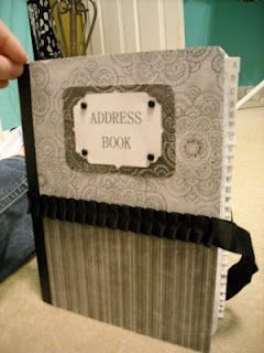 make your own address book or journal crafts address books