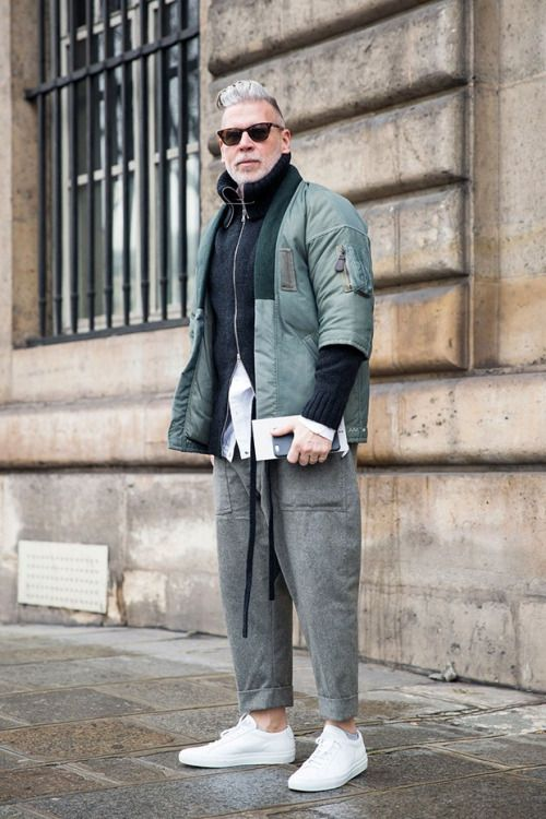 Menswear — Nick Wooster Source: Vogue fr - Paris Streetstyle