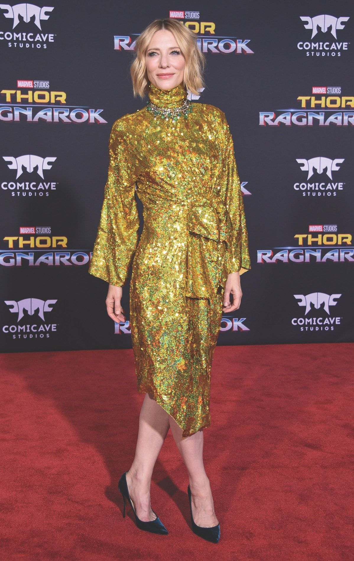 Cate Blanchett on the red carpet at the Thor Ragnarok
