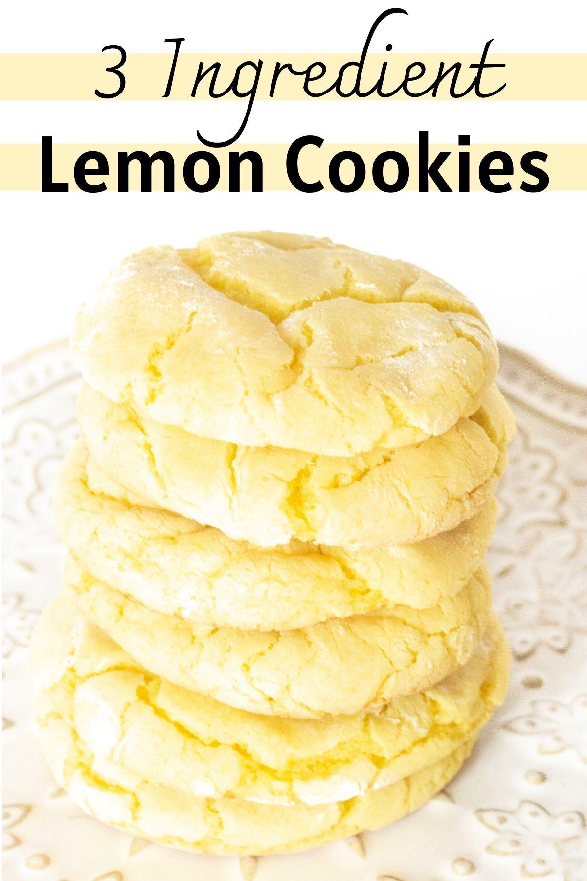 Photo of 3 Ingredient Lemon Cookies
