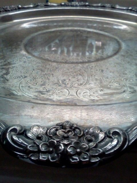 A detailed shot of the gorgeous 1960s cake stand that my husband's late grandmother owned. <3