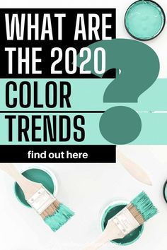 These 2020 paint color trends are awesome! Find out the color of the year for all of the major paint companies like Pantone Benjamin Moore Farrow and Ball Sherwin Williams Behr PPG and Valspar with pictures of interiors to go with them. Click through to get some home painting ideas for your room decor. #fromhousetohome #2020coloroftheyear #paintcolors #trends  #paintcolortrends