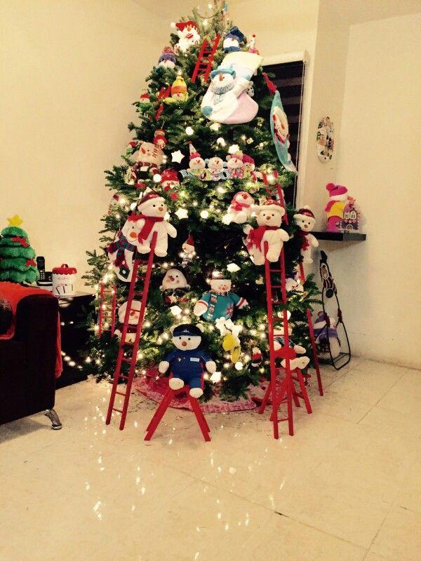 arbol de navidad con muñecos de nieve mi navidad pinterest