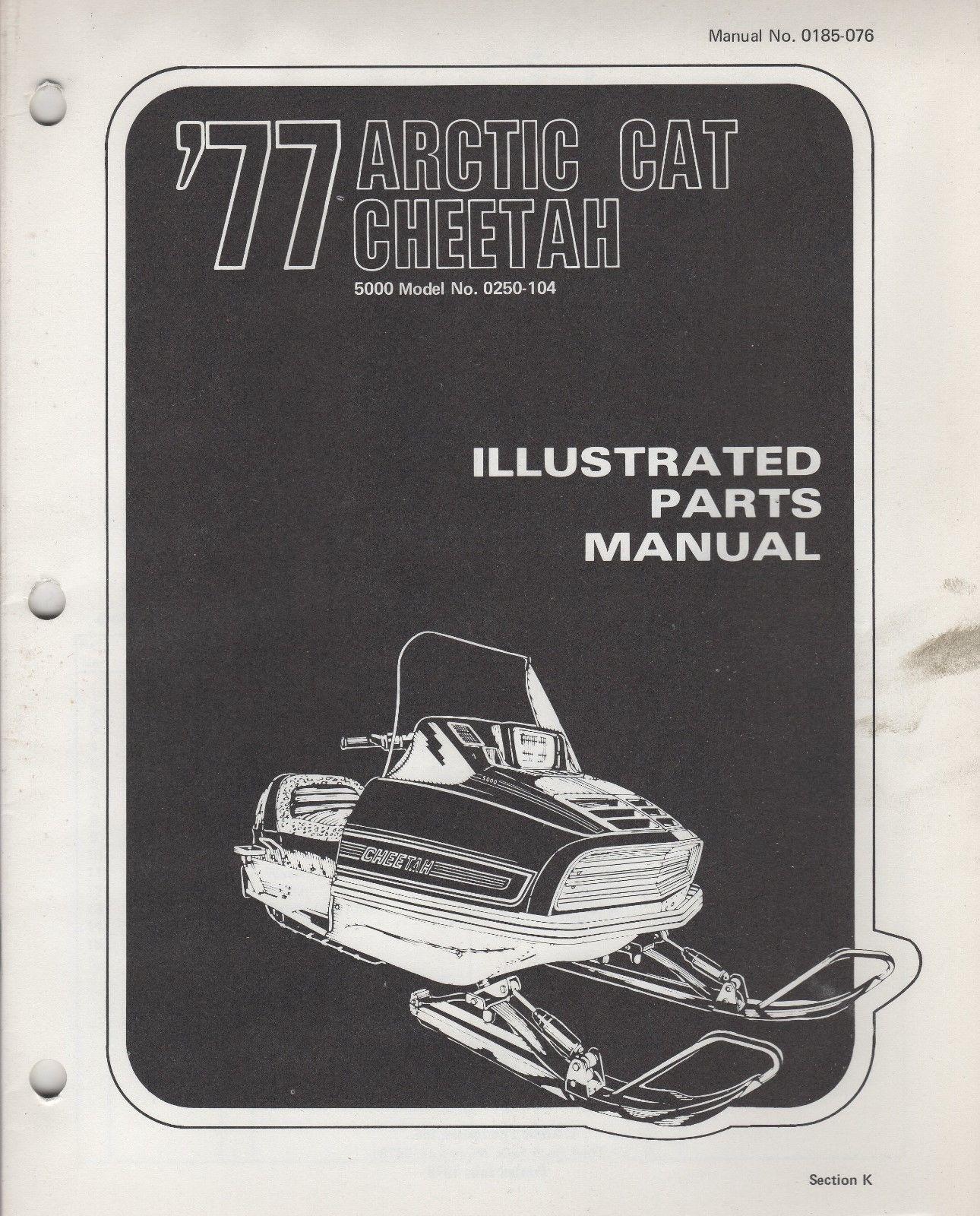 1977 ARCTIC CAT SNOWMOBILE CHEETAH 5000 P/N 0185-076 PARTS MANUAL (056