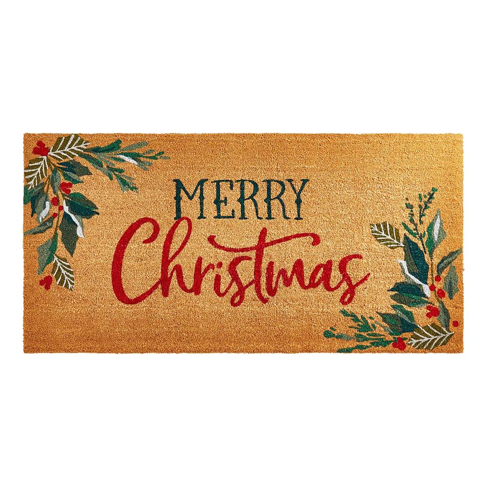Natural Merry Christmas Doormat Pier 1 Christmas Doormat