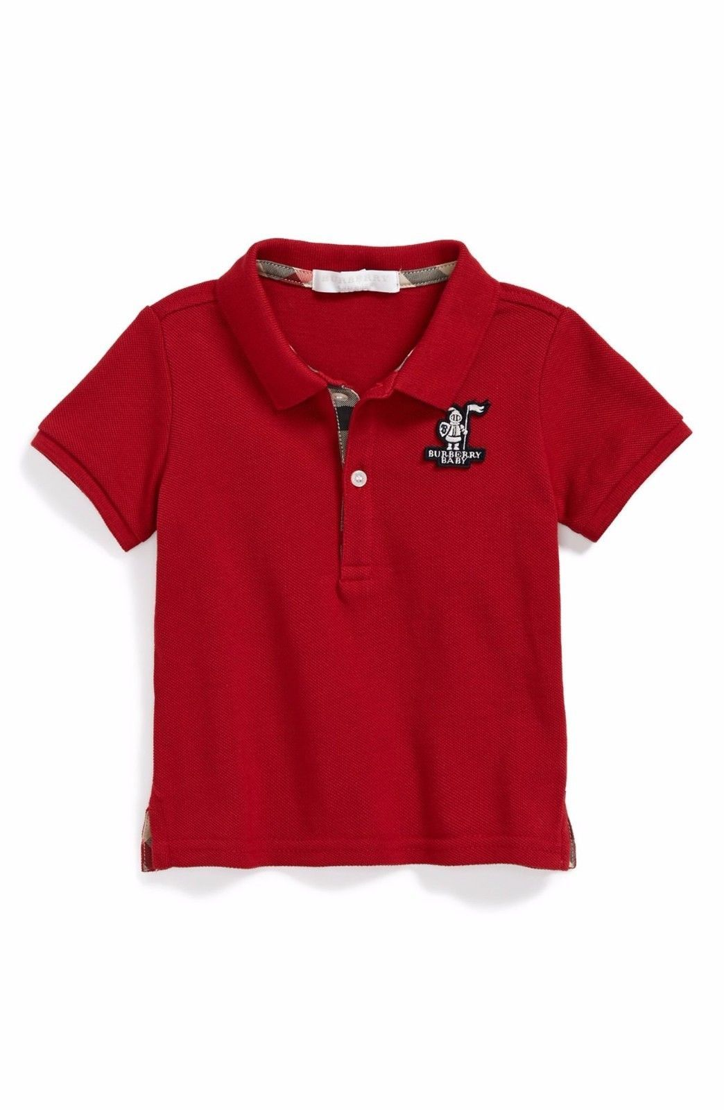 1ed68217b06686 Tops and T-Shirts 147340: Burberry Baby Palmer Pique Polo Shirt Military  Red Top Boys Nwt 18 Months -> BUY IT NOW ONLY: $49.99 on eBay!