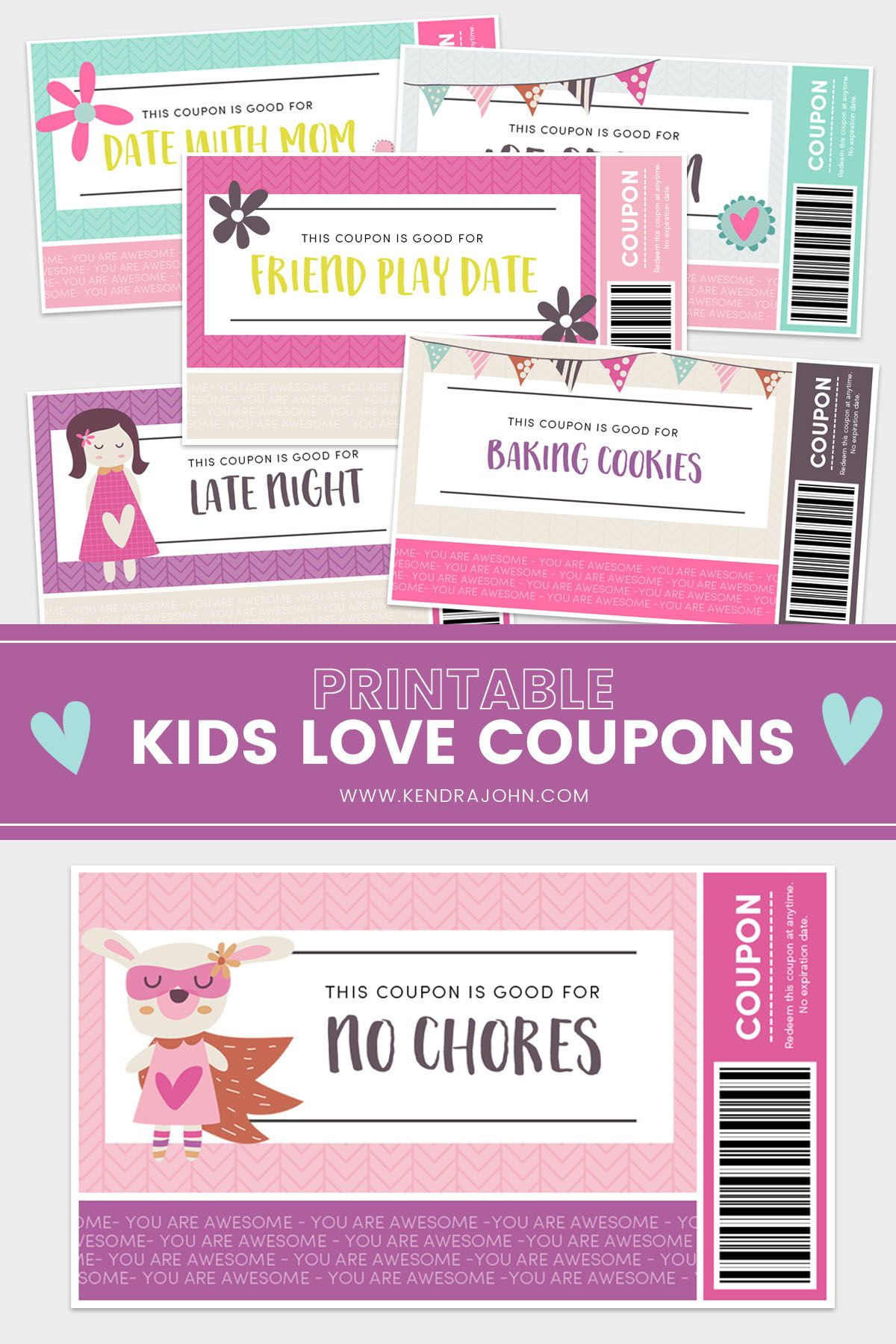 Make A Coupon Love Book For Your Kids With These Printable