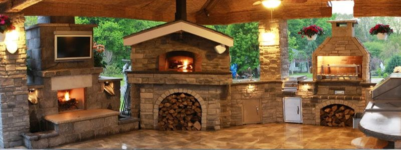 Outdoor Fireplace With Pizza Oven Gallery Tuscan Wood Fired Pizza