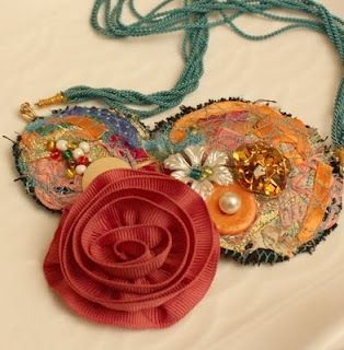 No Ordinary Day: Fabric Jewelry - Finished And WIP