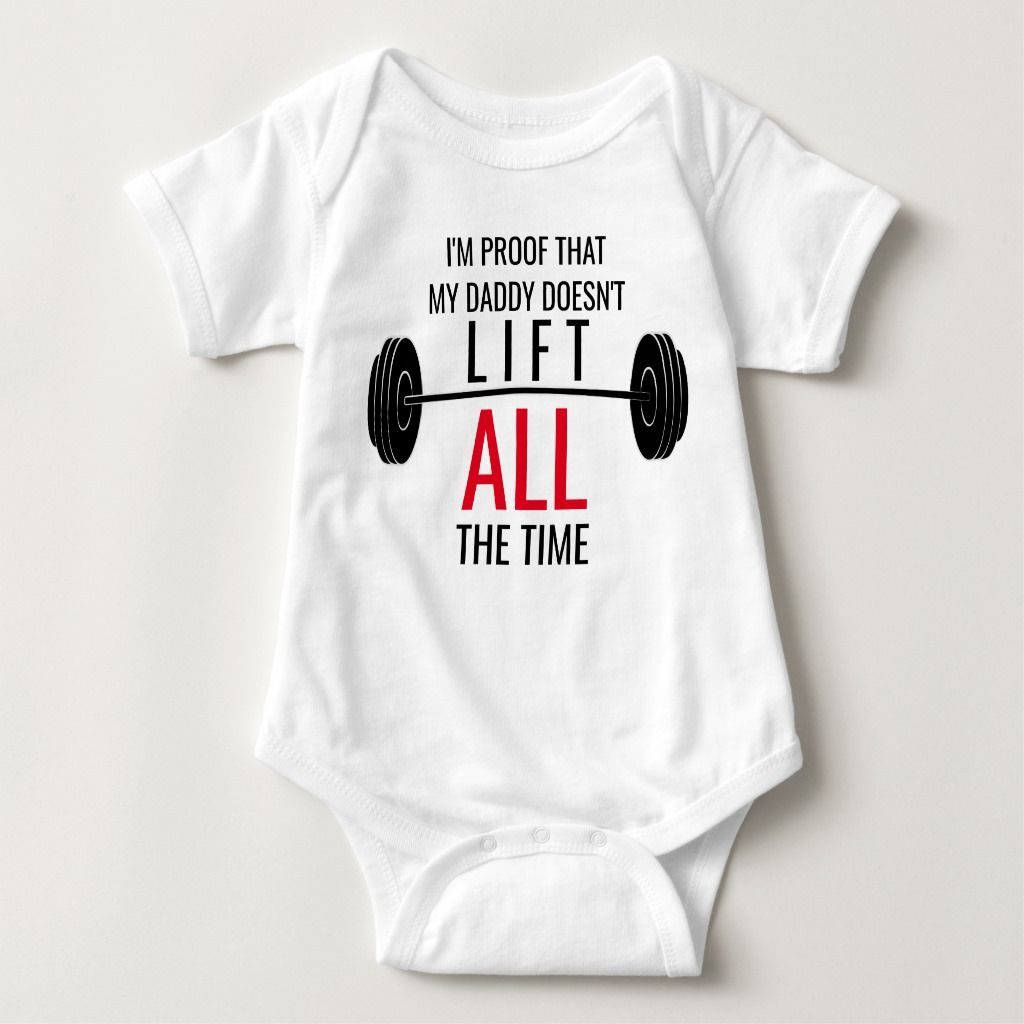 Workout Baby Shirt Weightlifter Baby Shower Gift New Dad Gift for New Dad Baby Boy Boy/'s Weightlifting
