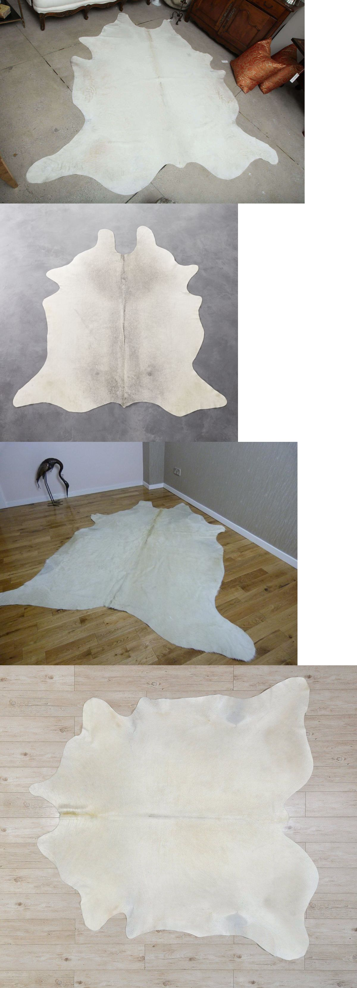 Leather Fur And Sheepskin Rugs 91421 Natural Brazilian Breed White Ivory Cowhide Rug Large 6x7 Ft Cow Skin Area Ru Grey Cowhide Rug Cow Hide Rug Grey Cow Hide
