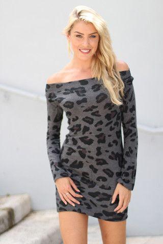 Charcoal Leopard Tunic