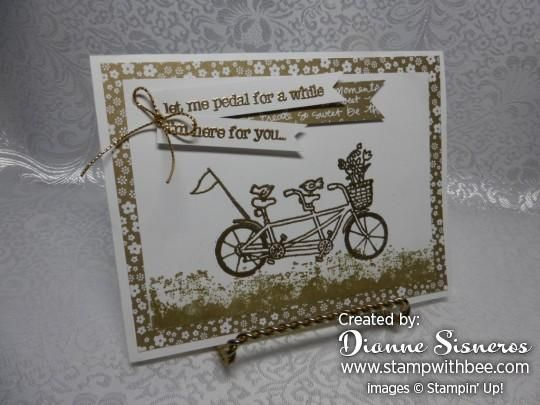 New Sale-A-Bration Stamp Set....Pedal Pusher, FREE with a qualifying order starting tomorrow, February 16, 2016