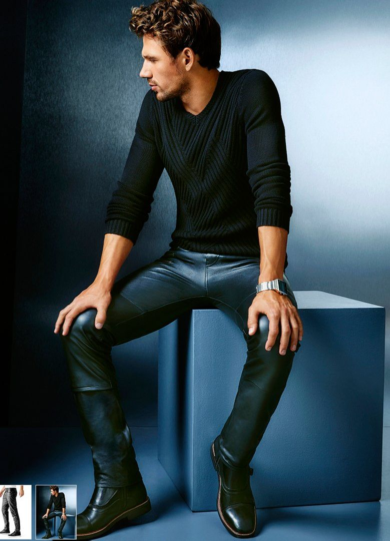 sexy black tight pants