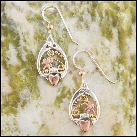 Shamrock Celtic Frame Earrings SW3195