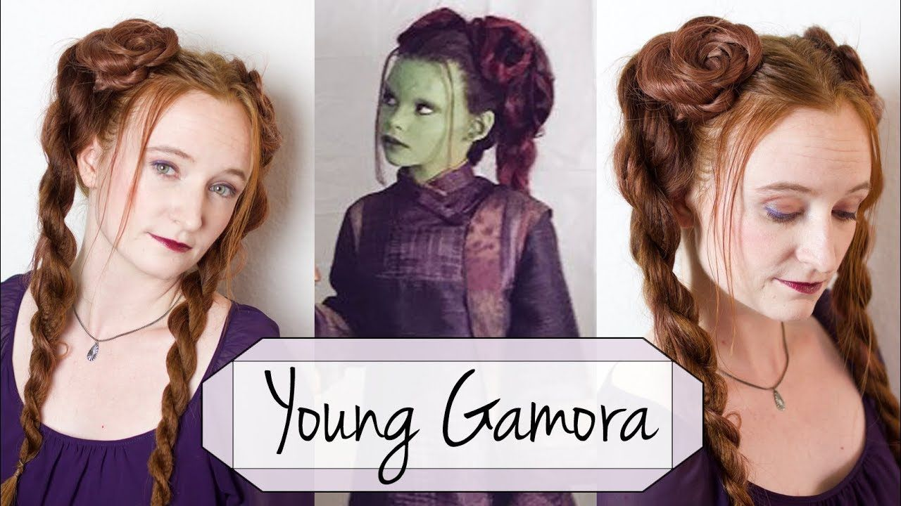 hair tutorial for young gamora in marvel's avengers: infinity war