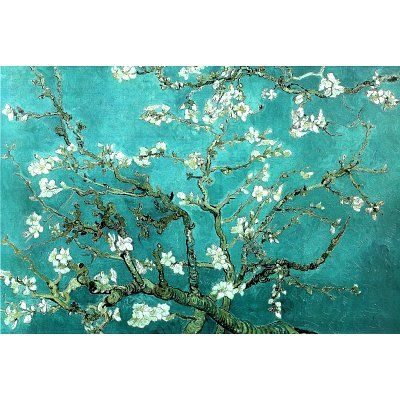 Nice Vincent Van Gogh Turquoise Almond Branches In Bloom, San Remy Art Poster  Print
