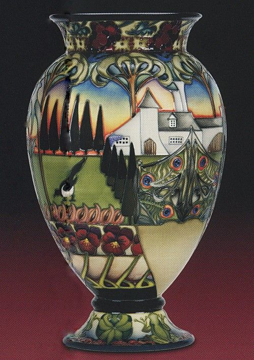 moorcroft - Moorcroft Pottery Eventide House 'The Tulip Weaver'