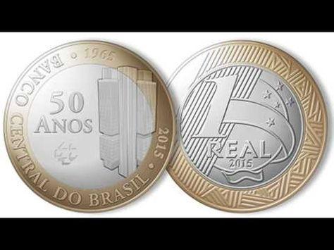 Moeda Comemorativa De 1 Real 50 Anos Do Banco Central Do Brasil