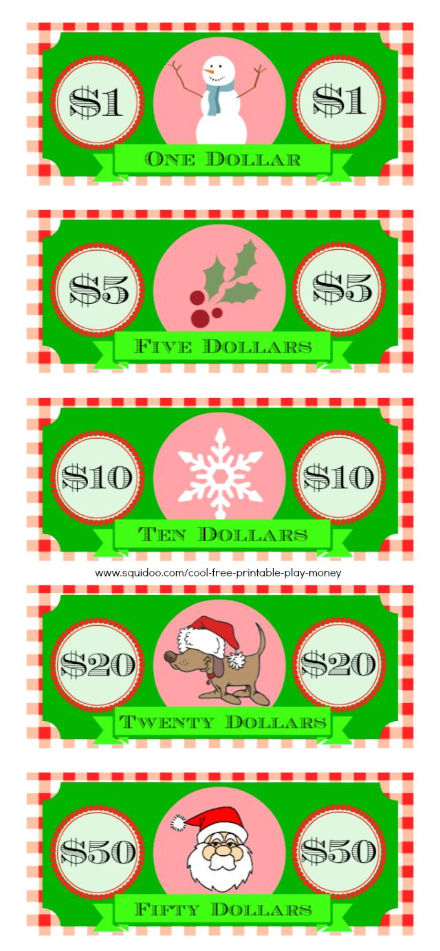 Free Printable Play Money Kids Will Love | Elf on a shelf ...