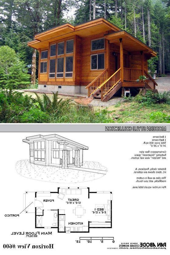 Contoh Desain Rumah Kayu Sederhana Modern Dan Unik Dizeen Cottage House Plans Modern Tiny House Cottage House Designs
