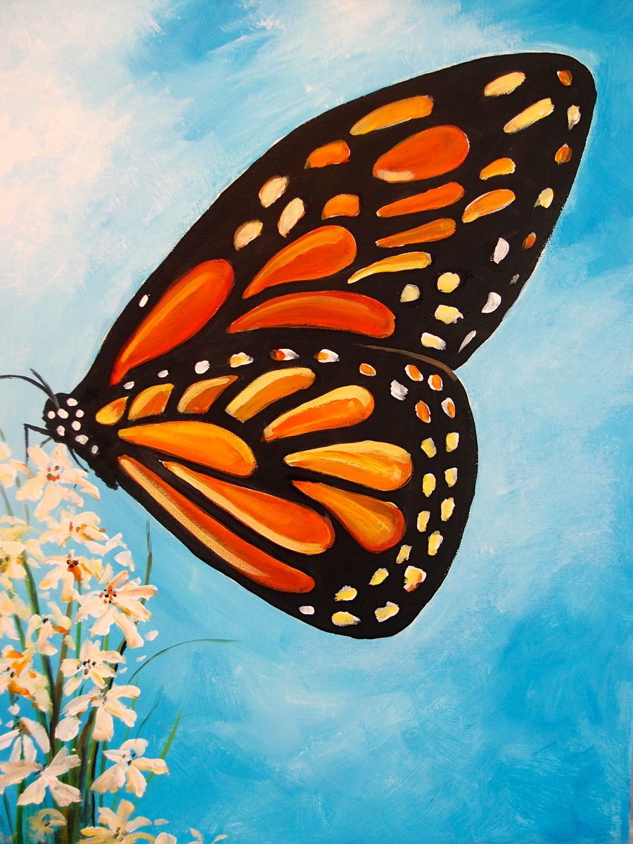 Pin By Diana Pollard Anderson On Painting Ideas Canvas Drawings Butterfly Art Painting Canvas Art Painting