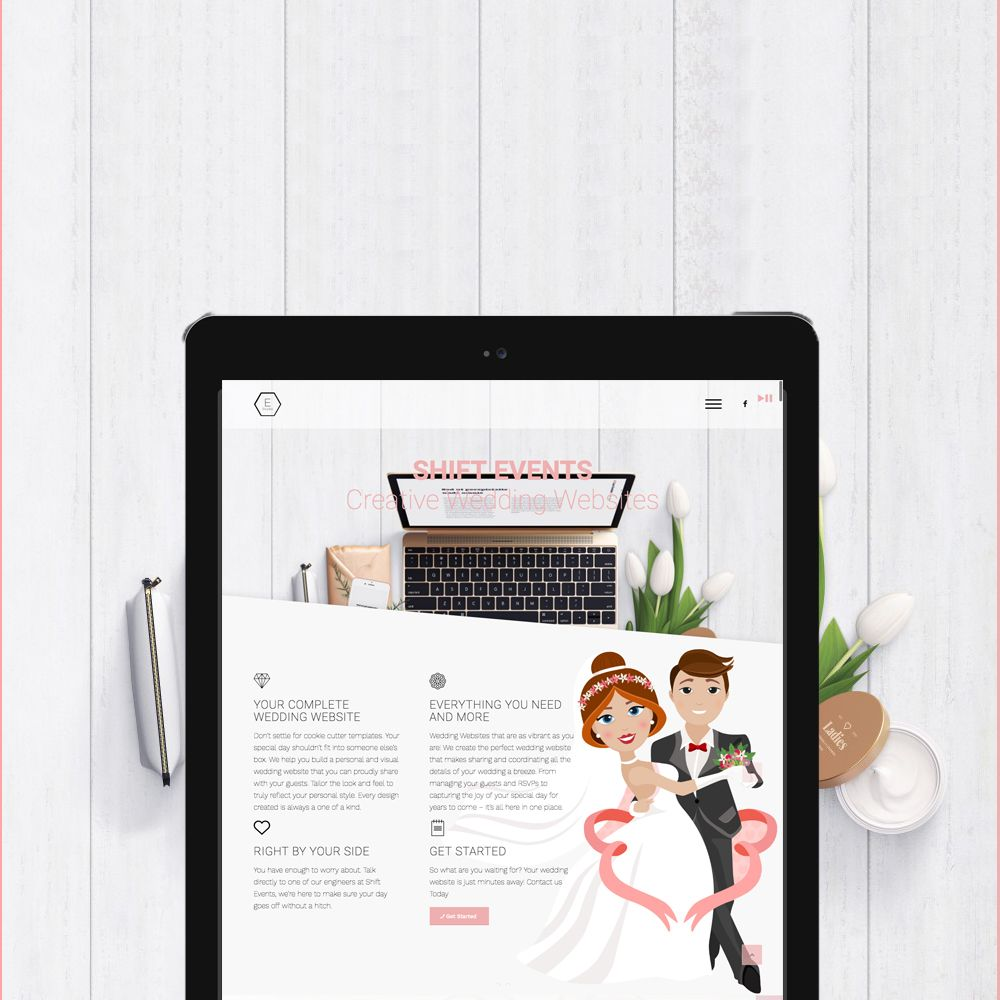 Introducing Shift Events - Wedding Website designers, specialized ...