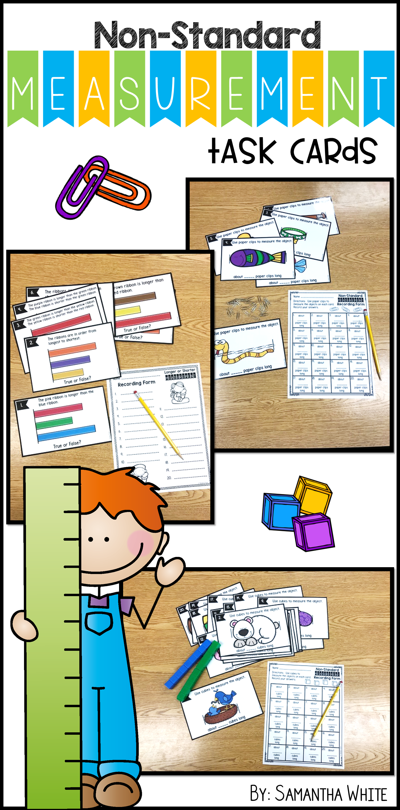 Non Standard Measurement Task Cards