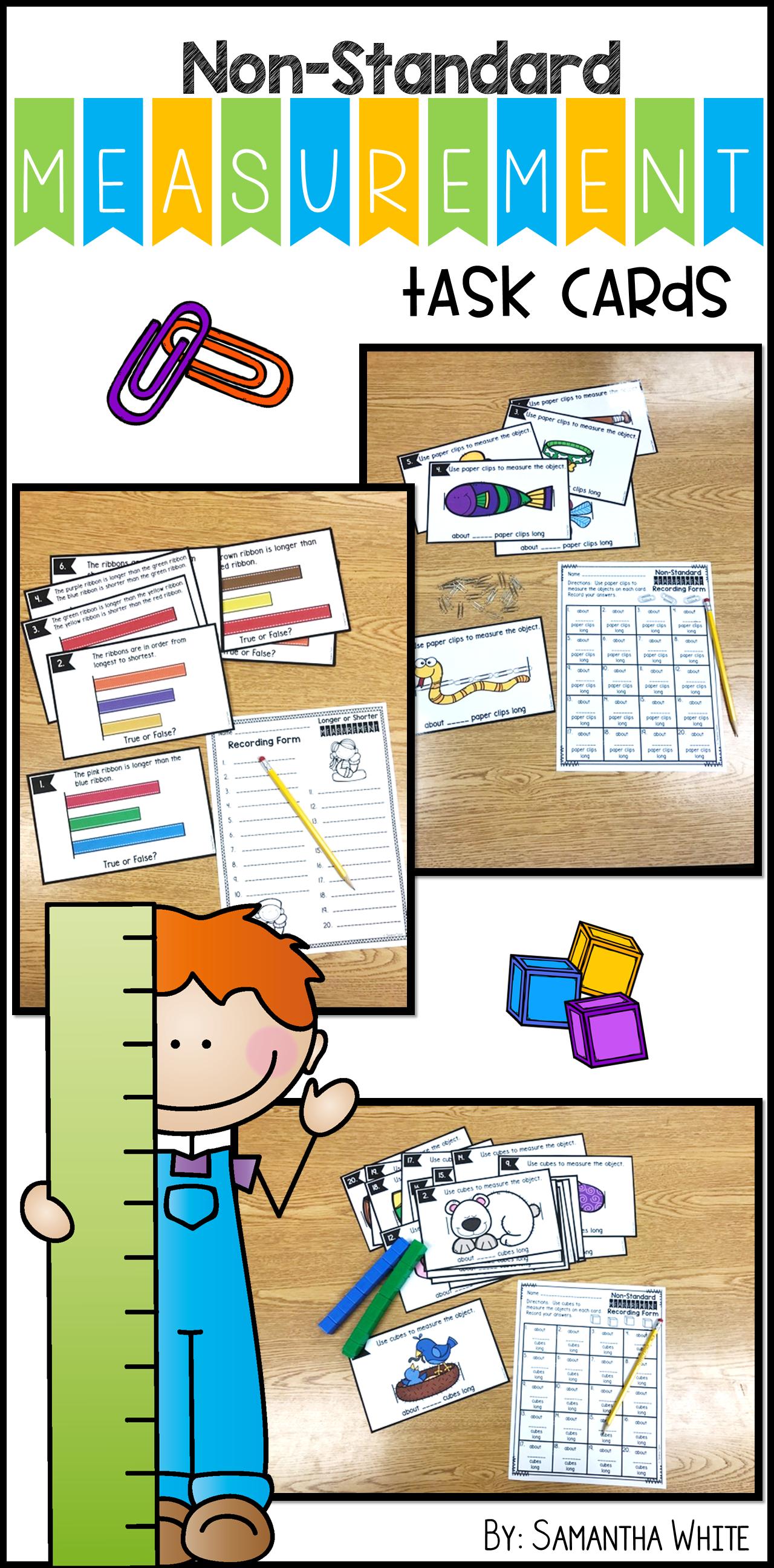 Non Standard Measurement Task Cards