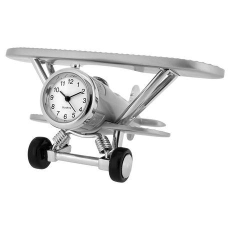 Artisan Collection Biplane Collectible Desktop Mini Clock Clock