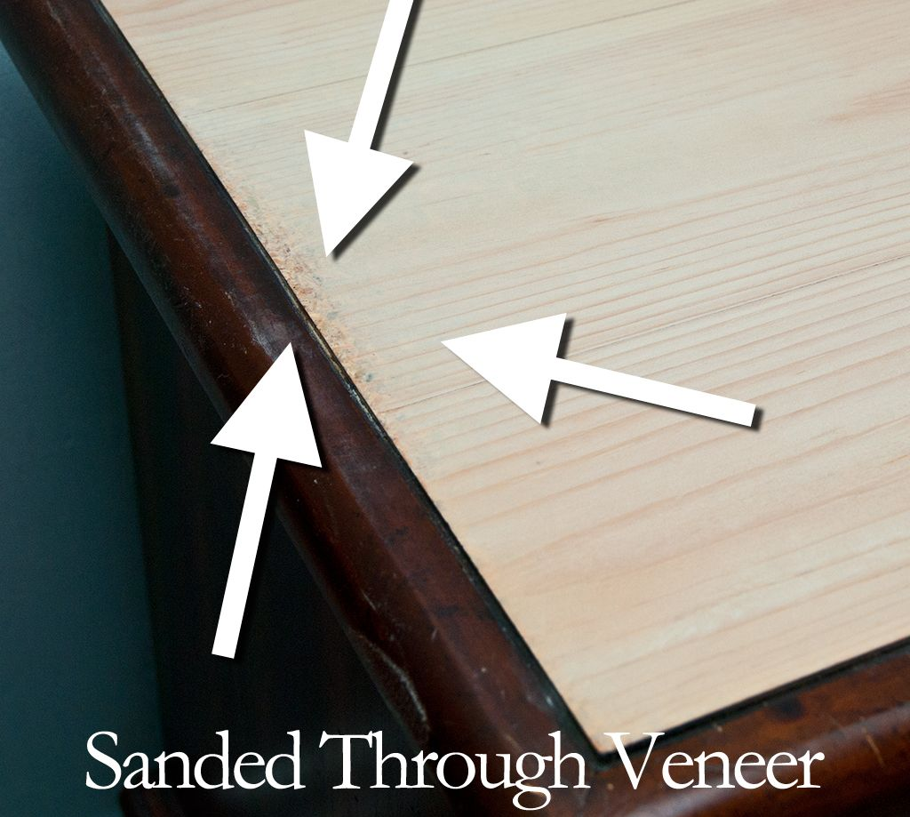 Sanded Through Veneer Really Grrrrr Veneers Blue Accent Walls Refinishing Furniture