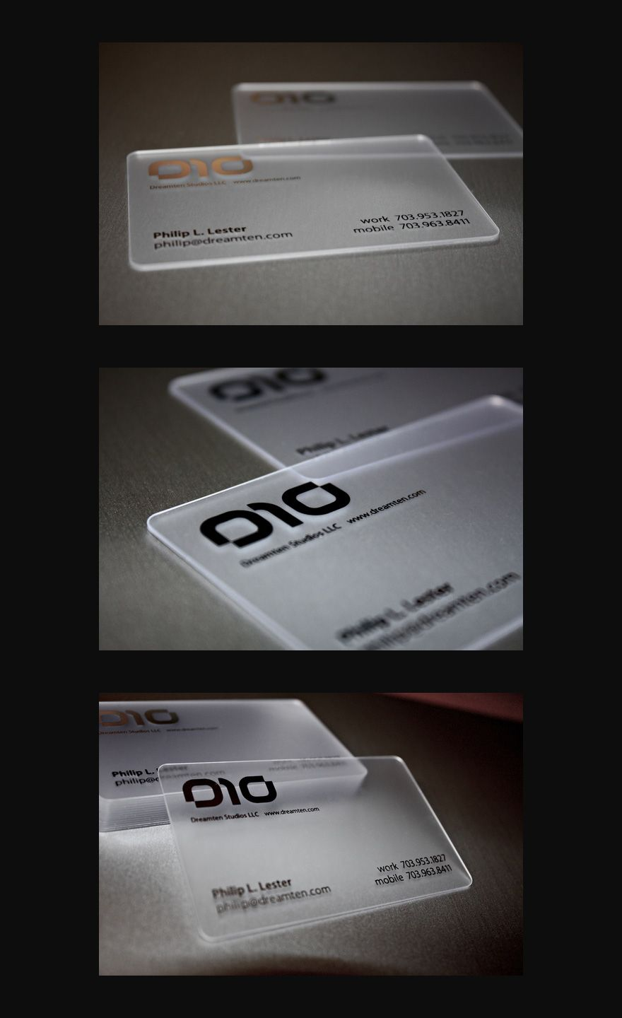 see-through plastic | Business Cards | Pinterest