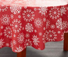 I Found A Snowflake Round Christmas Vinyl Tablecloth 60 Christmas Vinyl Vinyl Tablecloth Table Cloth
