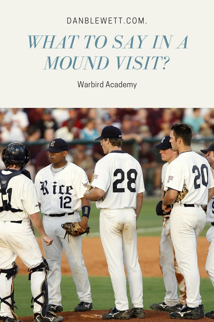 What To Say In a Mound Visit Baseball training, Baseball