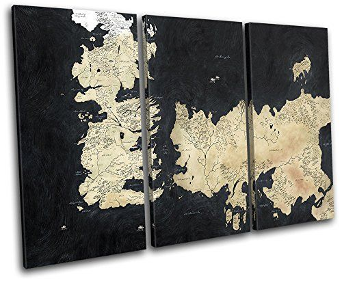 Bold Bloc Design – Map Game of Thrones Movie Greats 60x40cm TREBLE ...