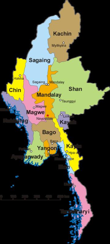 Map of Myanmar and its divisions, including Shan State, Kachin State Yangon Map State on bumthang map, hong kong map, yangtze river map, taiohae map, jakarta map, myanmar map, murang'a map, bandar seri begawan map, rangoon map, burma map, bangkok map, mekong river map, hanoi map, manila map, islamabad map, great wall of china map, naypyidaw map, taipei map, vientiane map, kuala lumpur map,
