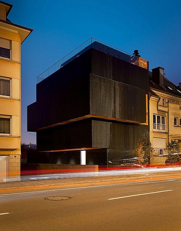 Schwarze Fassade kreative originelle architektur metaform schwarze fassade jpg 600