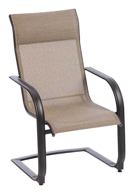 Living Accents C-Spring Dark Brown Steel with Sling Fabric ... on Living Accents Patio id=65281