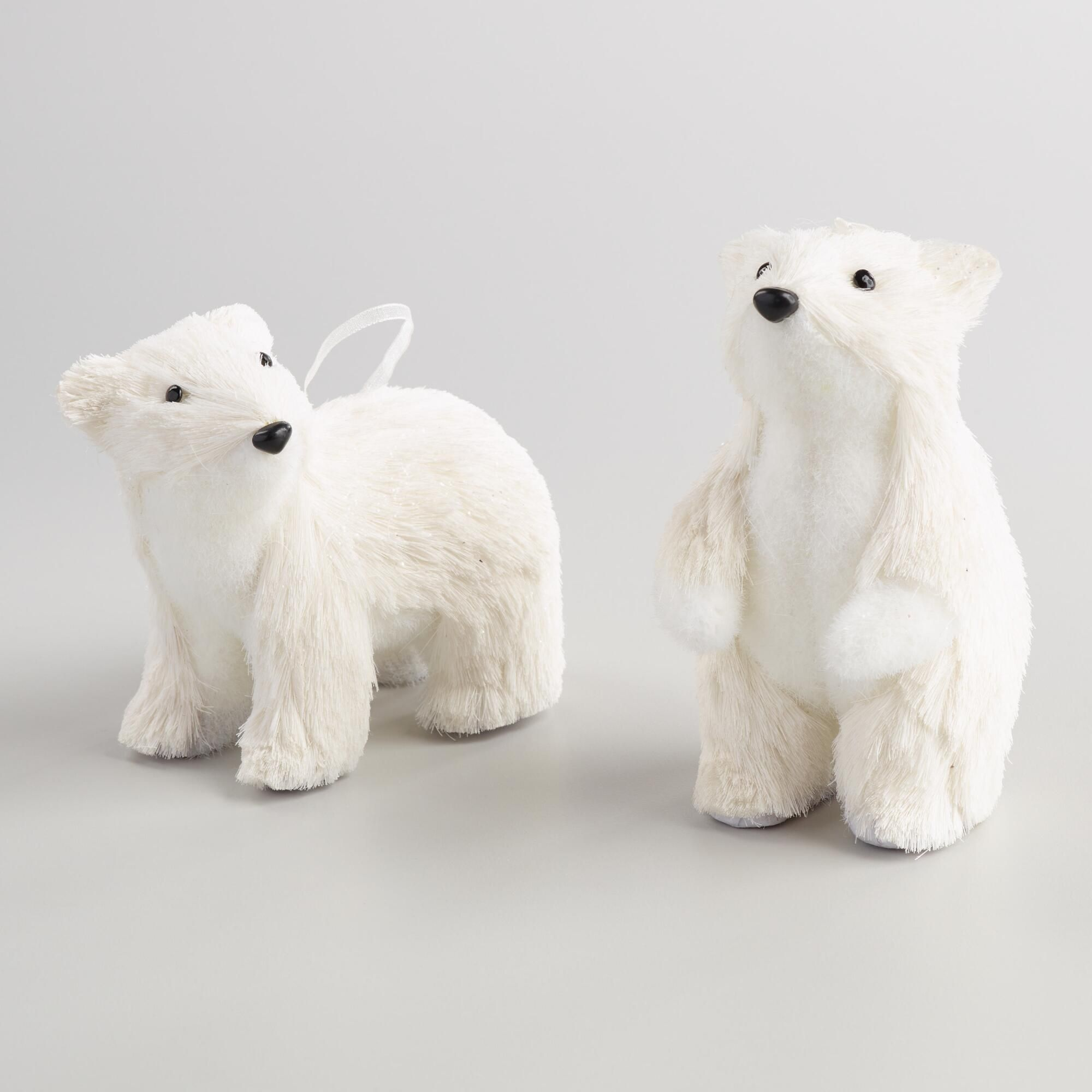 This Pair Of Baby Polar Bear Ornaments Are The Cutest