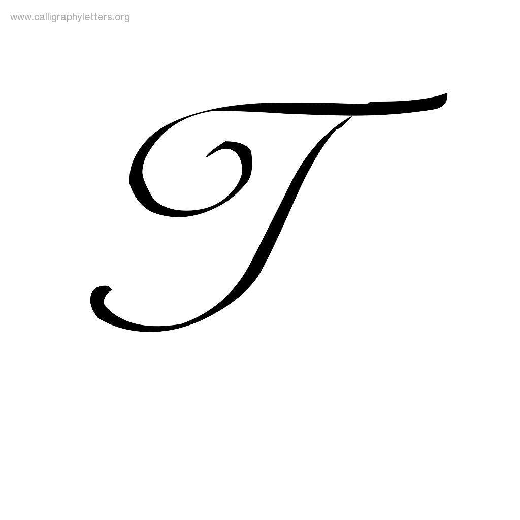 Printables Cursive Letter Capital T A Cursive T Scalien