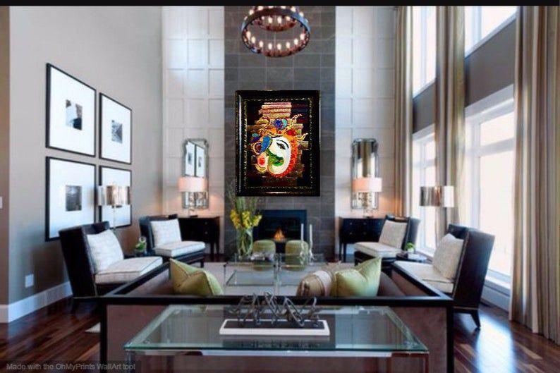 Large Ganesha In 2021 High Ceiling Living Room Living Room Interior Living Room Designs
