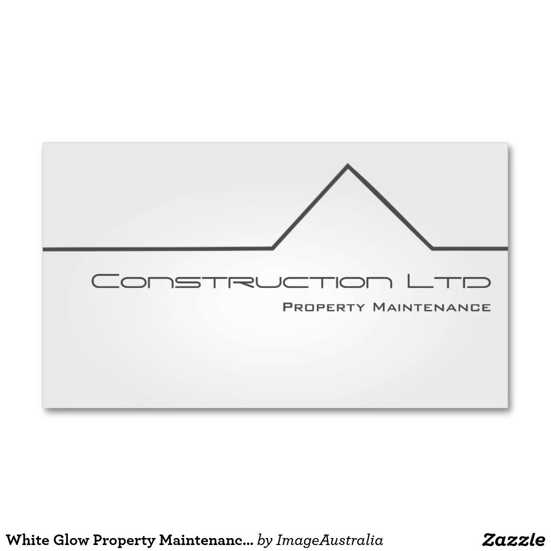 White Glow Property Maintenance Business Card   Pinterest   Business ...